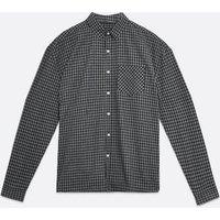 Men's Black Check Long Sleeve Oversized Shirt New Look
