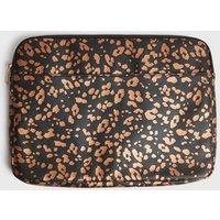 Black Leopard Print Laptop Case New Look