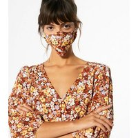 Multicoloured Reusable Floral Face Covering New Look