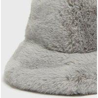 Grey Faux Fur Bucket Hat New Look