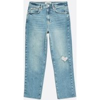 Petite Pale Blue Ankle Grazing Hannah Straight Leg Jeans New Look