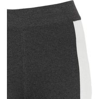 Cameo Rose Dark Grey Colour Block Knit Leggings New Look