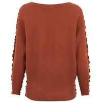 Blue Vanilla Rust Ribbed Batwing Jumper New Look