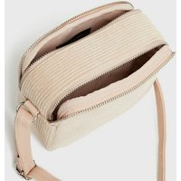 Pale Pink Corduroy Camera Bag New Look