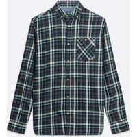 Men's Jack & Jones Dark Grey Check Long Sleeve Shirt New Look