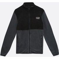 Men's Jack & Jones Grey Fleece Jacket New Look