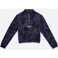 Girls Dark Grey California Logo Tie Dye Sweatshirt New Look
