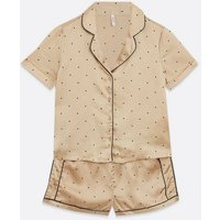 Vero-Moda-Pale-Pink-Spot-Satin-Short-Pyjama-Set-New-Look