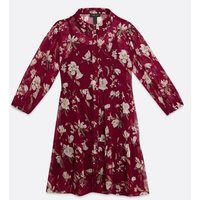 Red-Floral-Tiered-Shift-Dress-New-Look