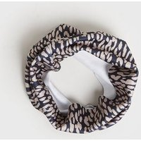 Light Brown Leopard Print Ribbed Snood New Look