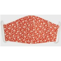 Red Floral Reusable Face Covering New Look