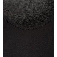 Black Jersey Batwing Sleeve Mini Dress New Look