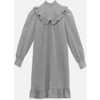 Maternity Black Check Frill Trim Mini Dress New Look