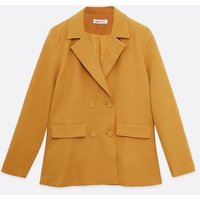 Urban Bliss Mustard Double Breasted Blazer New Look