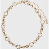 Gold Circle Chunky Chain Choker New Look