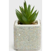 Crystal Effect Diamante Embellished Planter New Look
