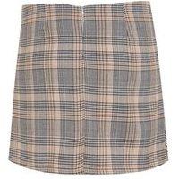 Pink Vanilla Off White Check Mini Skirt New Look