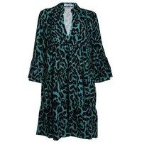 Gini London Green Leopard Print Shirt Dress New Look