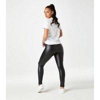 Urban Bliss Black Leather-Look Leggings New Look