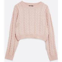 Pink-Vanilla-Mid-Pink-Cable-Knit-Jumper-New-Look