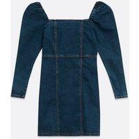 Urban Bliss Blue Denim Puff Sleeve Mini Dress New Look
