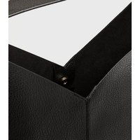 Black Leather-Look Slouch Tote Bag New Look Vegan