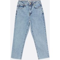 Petite Blue Light Wash Anica Straight Leg Jeans New Look