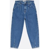 Petite Blue Mid Wash Slouch Nia Balloon Leg Jeans New Look