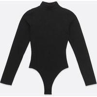 Pink-Vanilla-Black-Ribbed-High-Neck-Bodysuit-New-Look