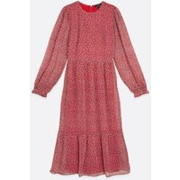 Tall Red Ditsy Floral Long Sleeve Midi Dress New Look