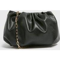 Black Pouch Chain Shoulder Bag New Look Vegan