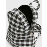 Girls Black Check Backpack New Look