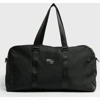 Black Tab Front Sports Bowler Bag New Look