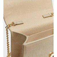 Pale Pink Faux Pearl Handle Cross Body Bag New Look Vegan