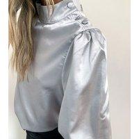 Zibi-London-Silver-High-Neck-Satin-Blouse-New-Look