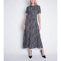 Cutie London Black Spot Split Hem Maxi Dress New Look
