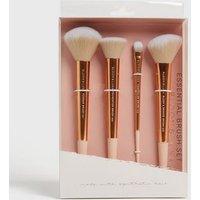 Bloom & Luna 4 Pack Rose Gold Essential Brush Set New Look