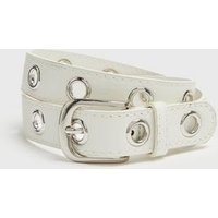 Girls White Eyelet Belt New Look