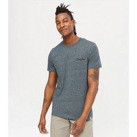 Men's Jack & Jones Navy Embroidered T-Shirt New Look