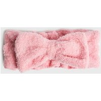 Pink Fluffy Bow Beauty Band New Look