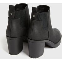 ONLY Black Chunky Heeled Chelsea Boots New Look