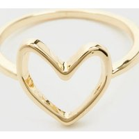 Gold Heart Sketch Ring New Look