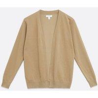 Blue Vanilla Camel Fine Knit Cardigan New Look