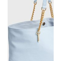 Pale Blue Leather-Look Chain Strap Slouch Tote Bag New Look Vegan
