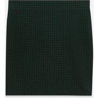 Girls Green Dogtooth Tube Mini Skirt New Look