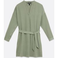Maternity Light Green Belted Tunic Dress New Look