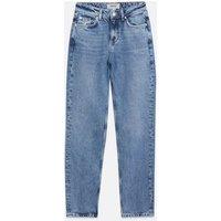 Petite Blue Full Length Split Hem Anica Straight Leg Jeans New Look