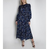 Cutie London Blue Paisley Long Sleeve Maxi Dress New Look