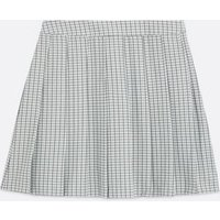 Green Check Pleated Mini Tennis Skirt New Look