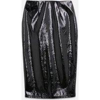 Black Vinyl Pencil Skirt New Look